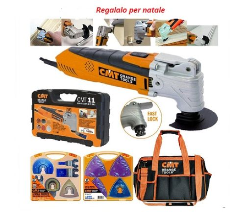 KIT UTENSILE MULTIFUNZIONE OSCILLANTE CMT11 + KIT LAME OMM-X37 + BORSA BAG-001
